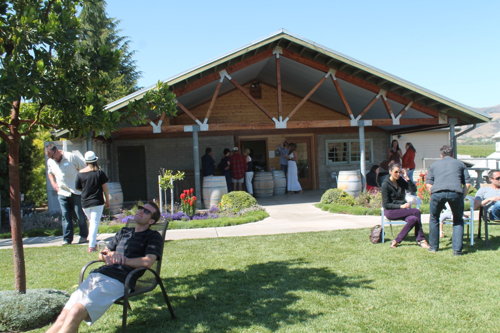 Lazy Sunday afternoon at Kynsi Winery -- dogs are welcome here!