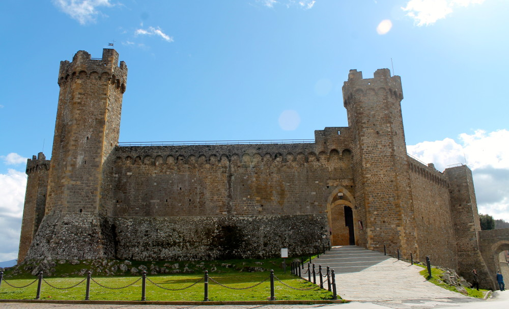 Forte di Montalcino, erected in the 13th century, survived the battle between Siena and Florence.