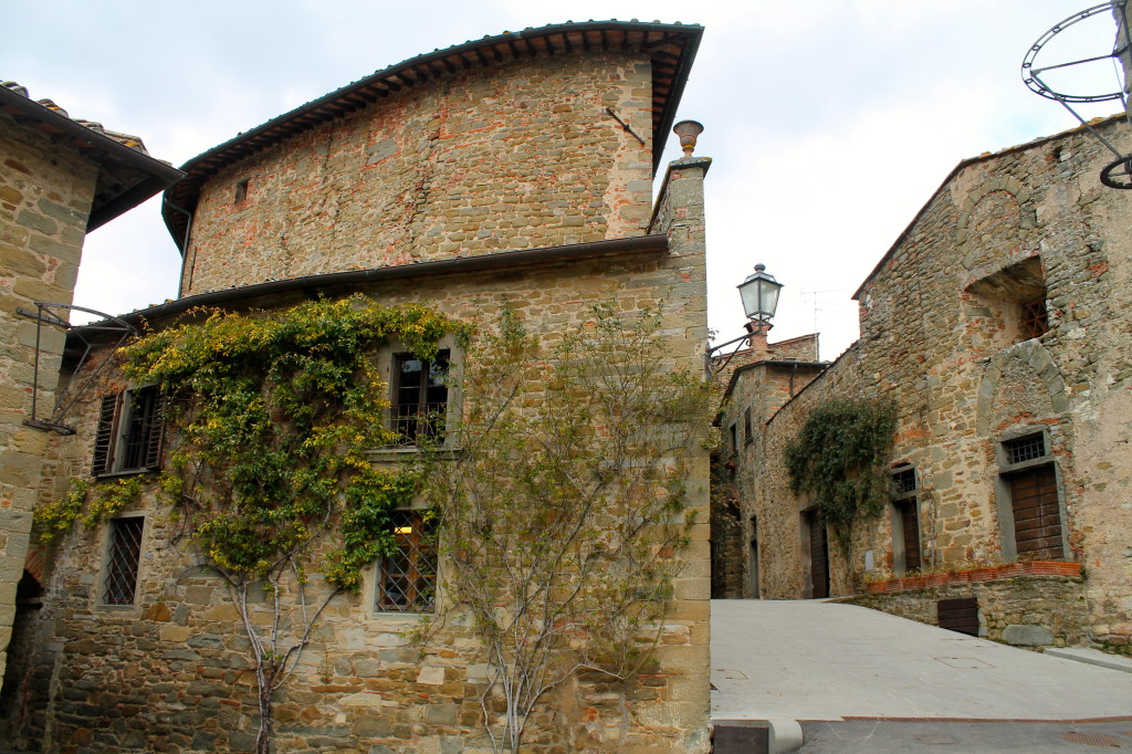 Medieval curved walls add charm to the little hilltop village.