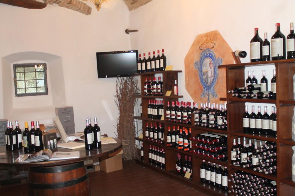 Tasting Room at Vignamaggio in Lamole